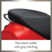 New Black Saddle with Grey Stitching