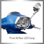 Front and rear LED lamp