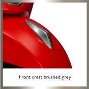 Front Crest Brushed Grey