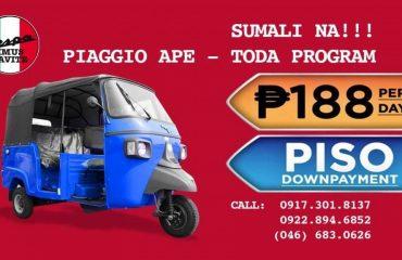 piaggio ape opens its piso downpayment toda program